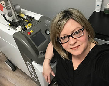 Advanced Aesthetics Laser Tattoo Removal owner Danielle Hotte